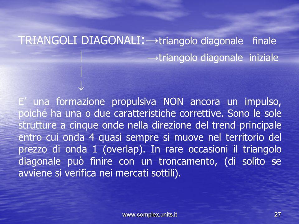 TRIANGOLI DIAGONALI:→triangolo diagonale finale