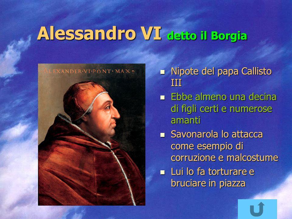 Alessandro VI detto il Borgia