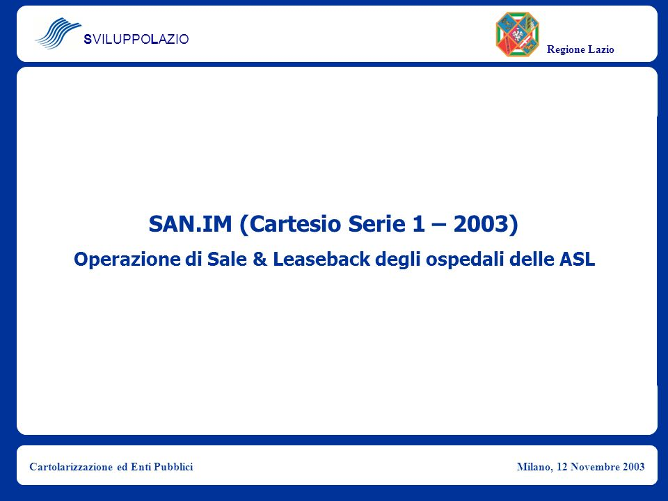 SAN.IM (Cartesio Serie 1 – 2003)