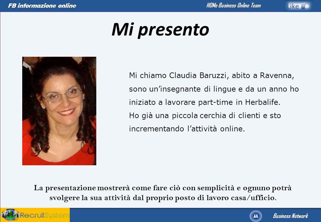 Mi presento Mi chiamo Claudia Baruzzi, abito a Ravenna, sono un'insegnante di lingue e da un anno ho iniziato a lavorare part-time in Herbalife.