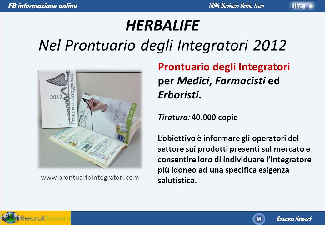 HERBALIFE Nel Prontuario degli Integratori 2012