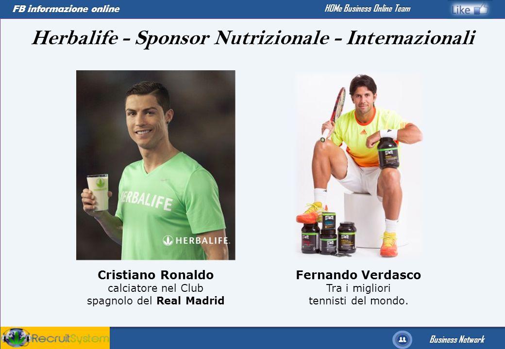 Herbalife - Sponsor Nutrizionale - Internazionali