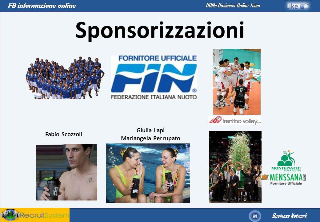 Sponsorizzazioni Giulia Lapi Mariangela Perrupato Fabio Scozzoli