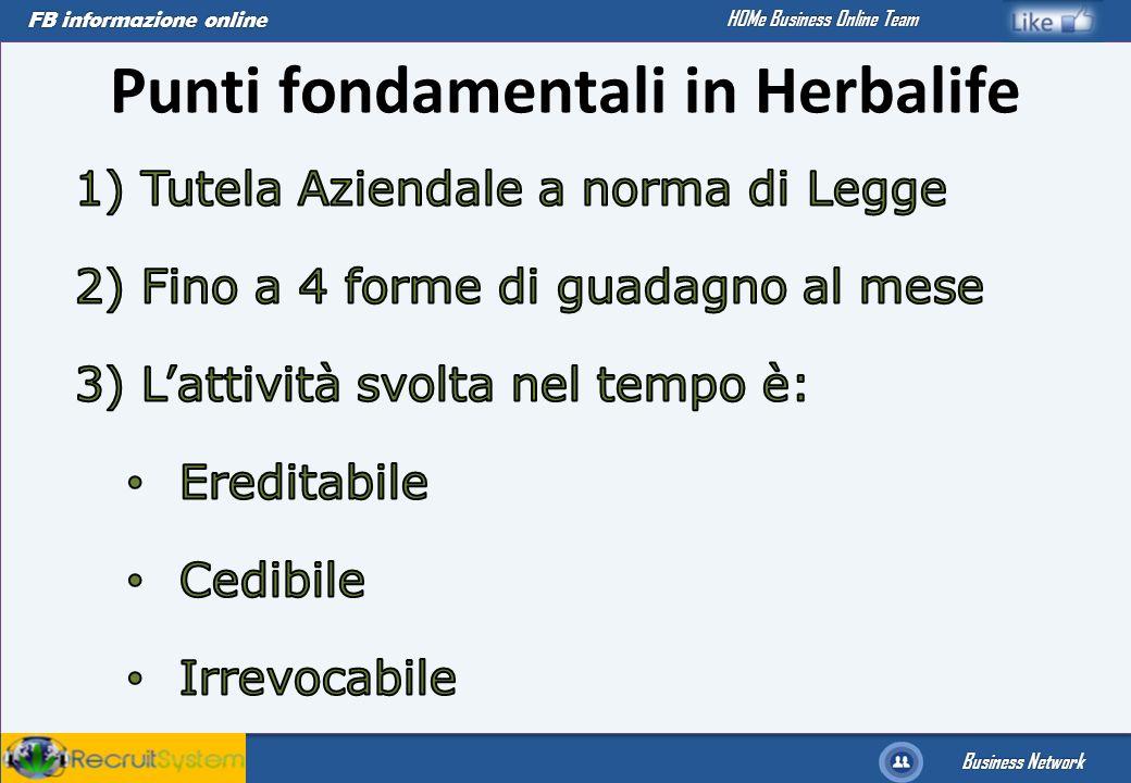 Punti fondamentali in Herbalife