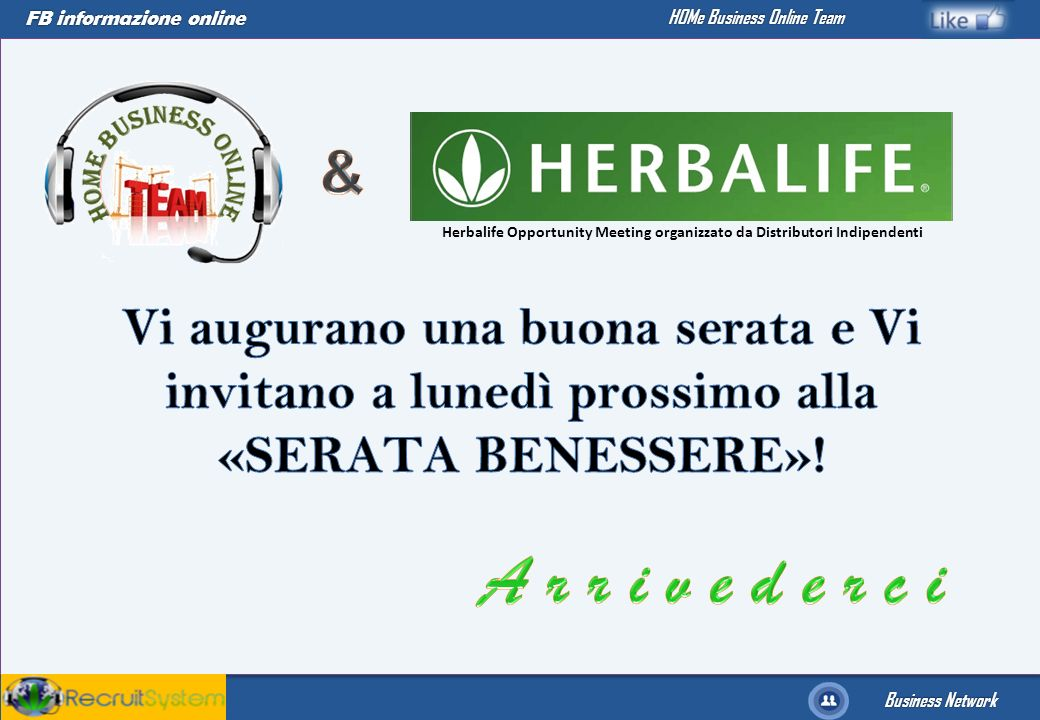 Herbalife Opportunity Meeting organizzato da Distributori Indipendenti