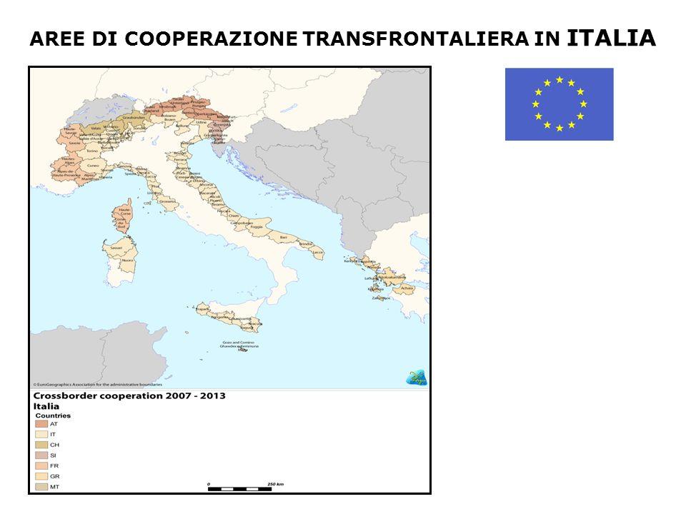 AREE DI COOPERAZIONE TRANSFRONTALIERA IN ITALIA