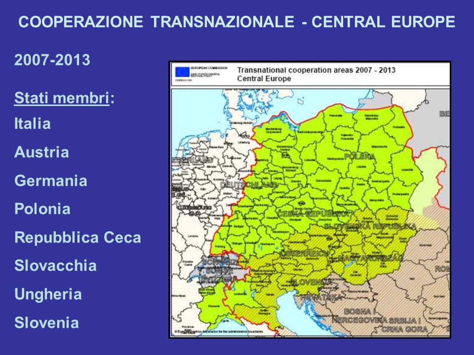COOPERAZIONE TRANSNAZIONALE - CENTRAL EUROPE