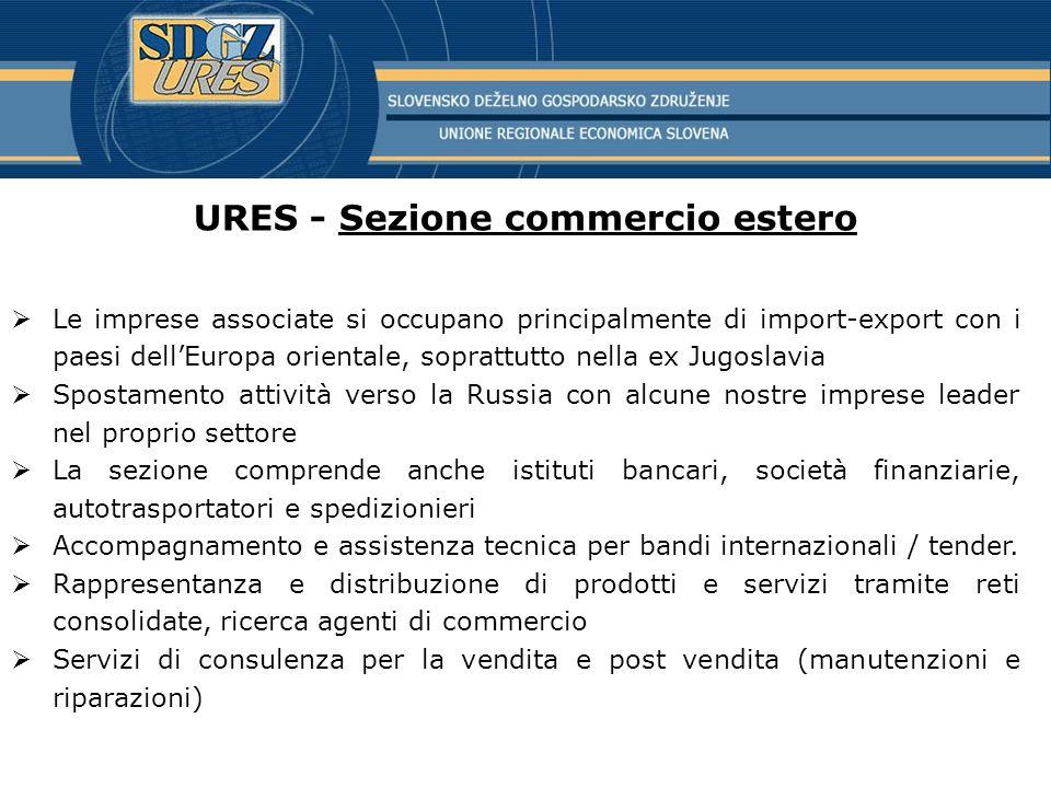 URES - Sezione commercio estero