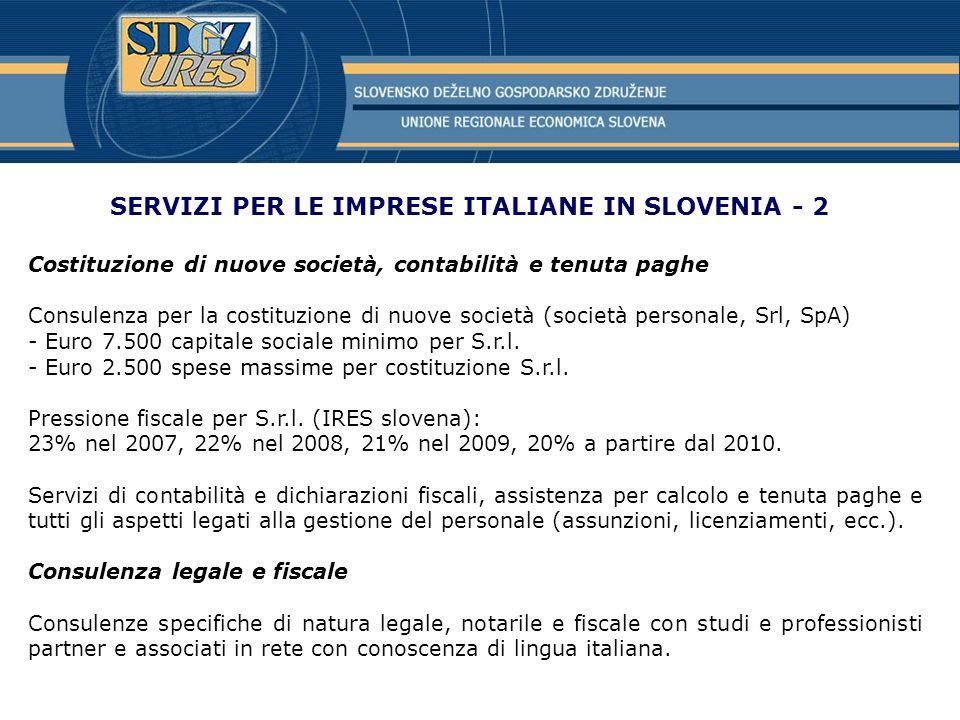 SERVIZI PER LE IMPRESE ITALIANE IN SLOVENIA - 2