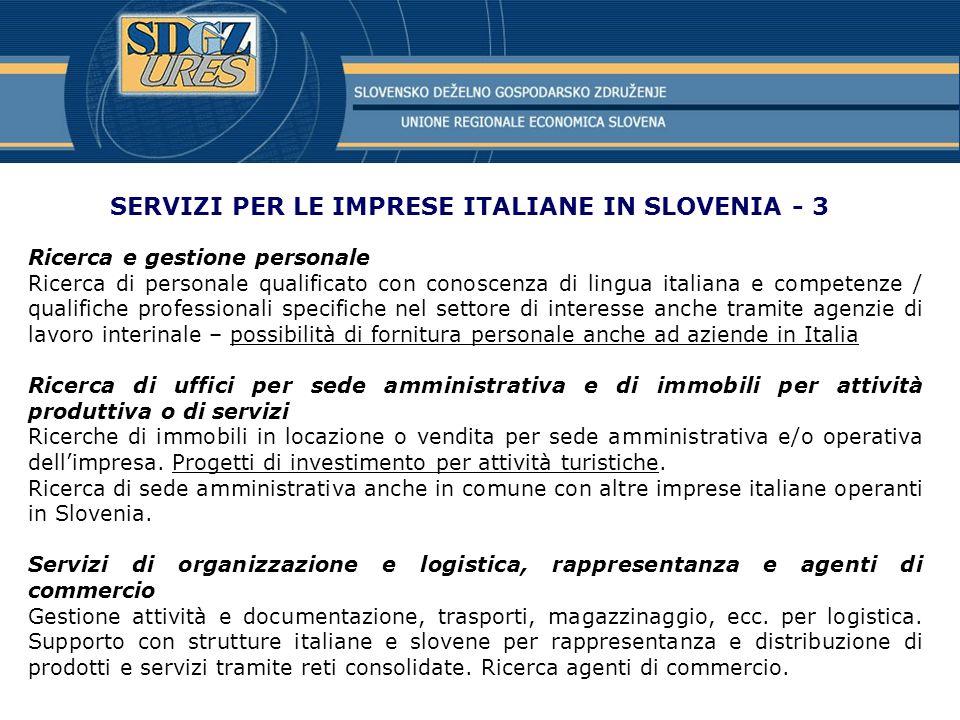 SERVIZI PER LE IMPRESE ITALIANE IN SLOVENIA - 3