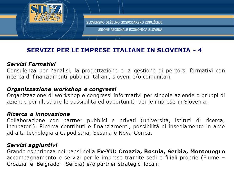 SERVIZI PER LE IMPRESE ITALIANE IN SLOVENIA - 4