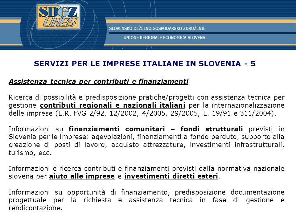 SERVIZI PER LE IMPRESE ITALIANE IN SLOVENIA - 5