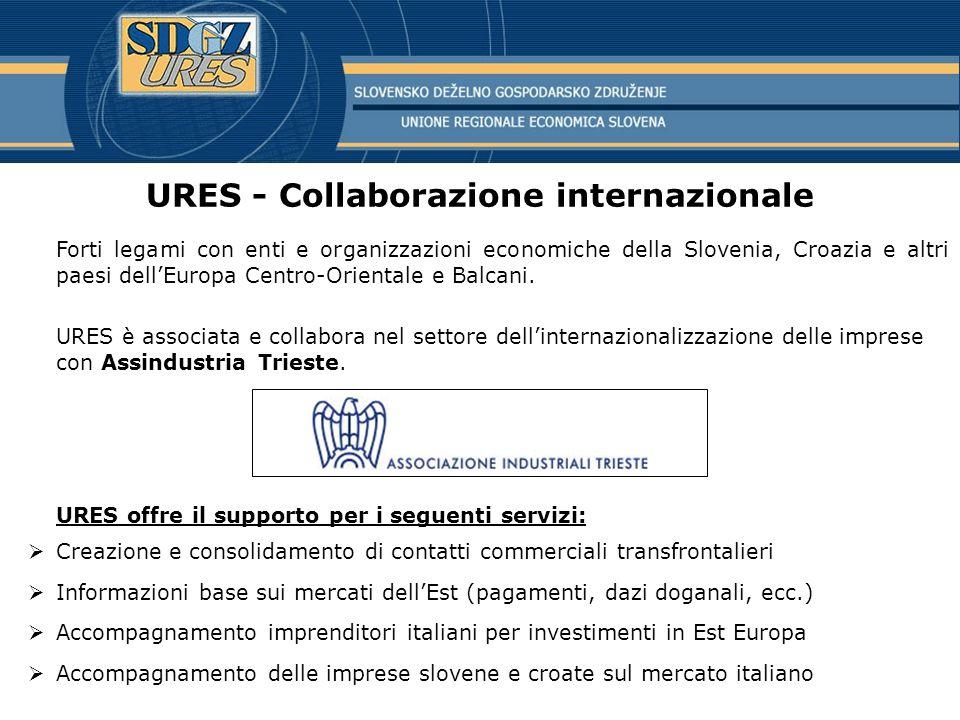 URES - Collaborazione internazionale
