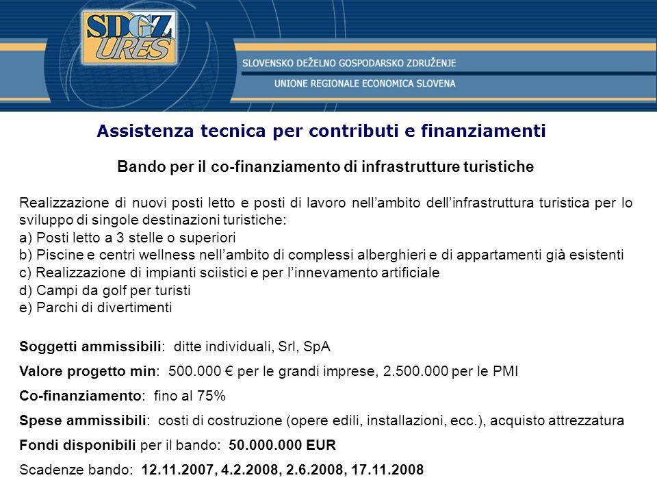 Assistenza tecnica per contributi e finanziamenti