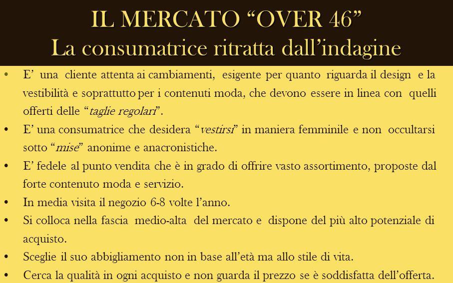 IL MERCATO OVER 46 La consumatrice ritratta dall'indagine