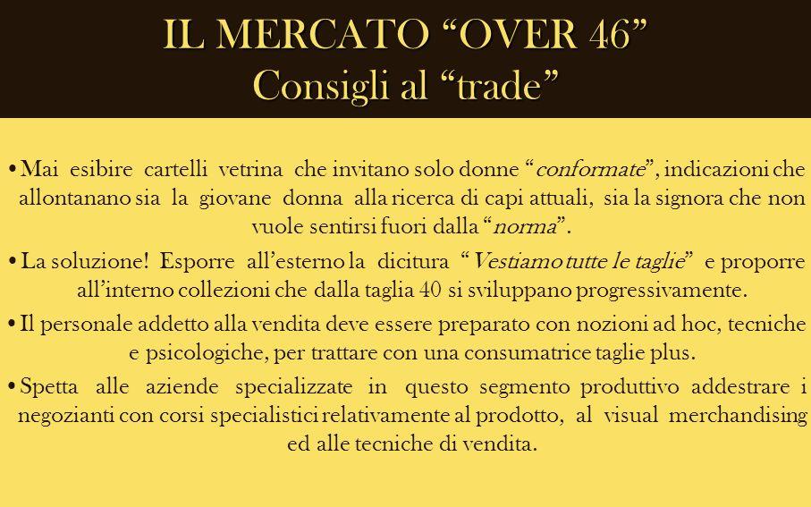IL MERCATO OVER 46 Consigli al trade