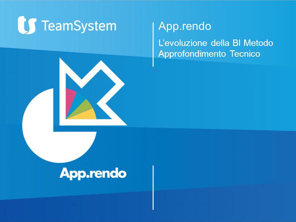 App.rendo L'evoluzione della BI Metodo Approfondimento Tecnico