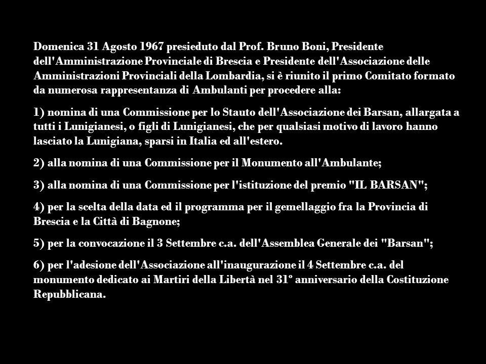 Domenica 31 Agosto 1967 presieduto dal Prof