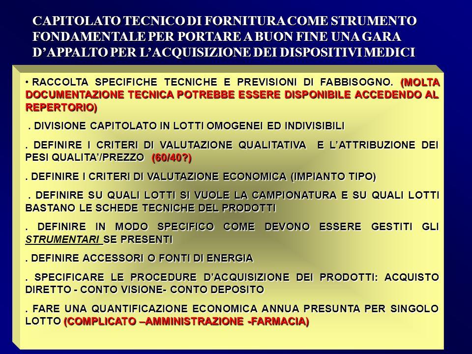 CAPITOLATO TECNICO DI FORNITURA COME STRUMENTO