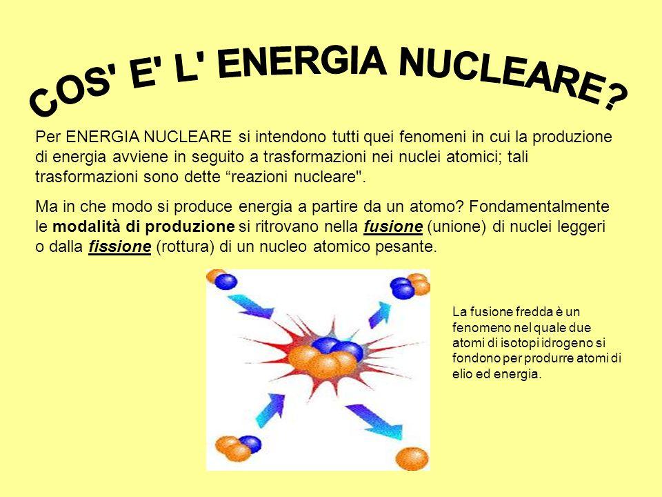 COS E L ENERGIA NUCLEARE
