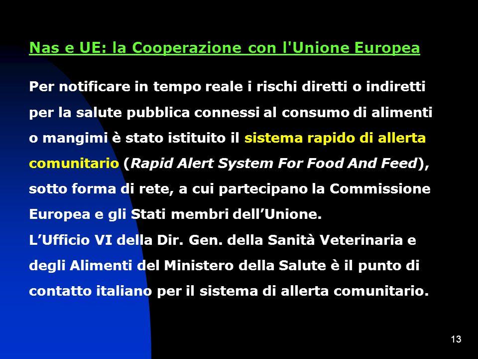 Nas e UE: la Cooperazione con l Unione Europea