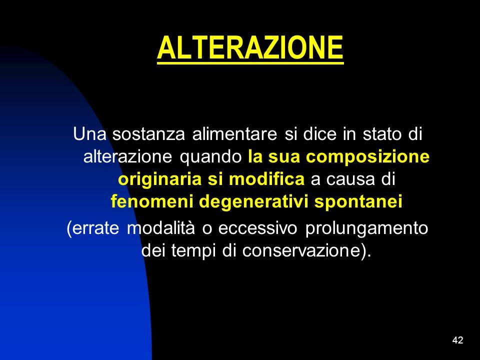 ALTERAZIONE