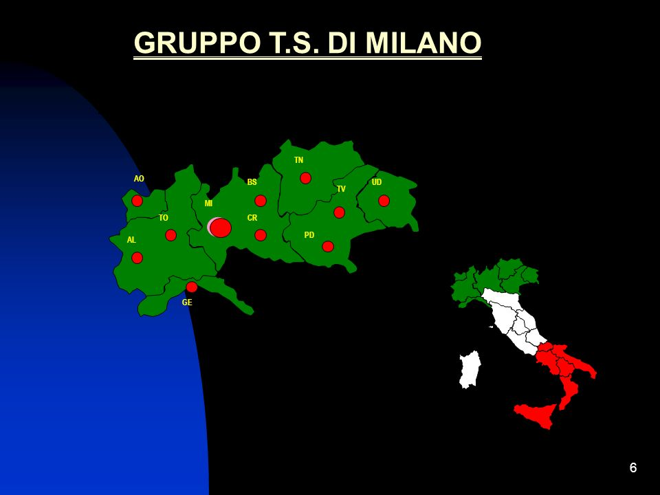 GRUPPO T.S. DI MILANO MI AL PD BS GE TO CR TN TV AO UD