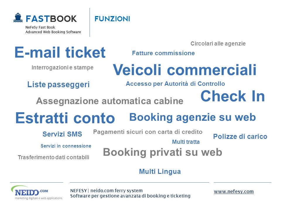 E-mail ticket Veicoli commerciali Check In Estratti conto