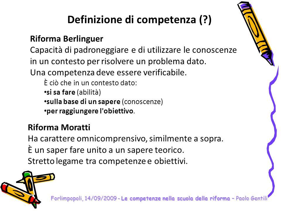 Definizione di competenza ( )