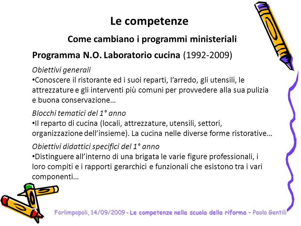 Come cambiano i programmi ministeriali
