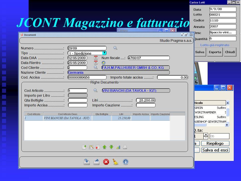 JCONT Magazzino e fatturazione :