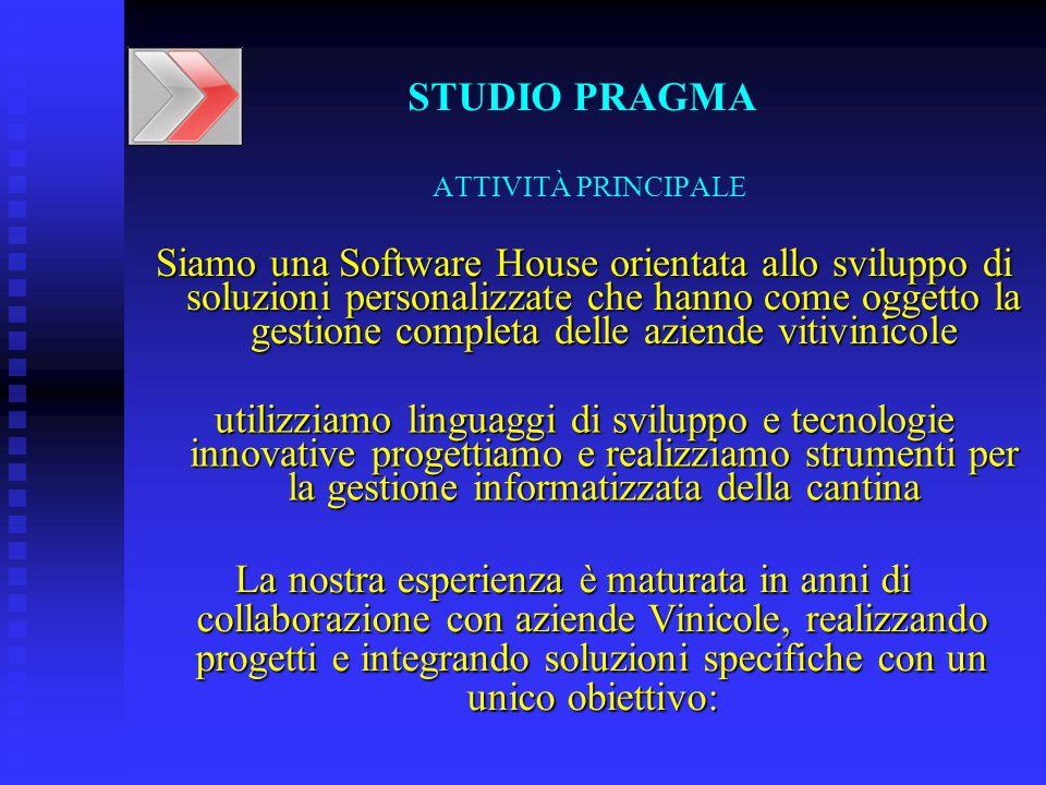 STUDIO PRAGMA ATTIVITÀ PRINCIPALE.
