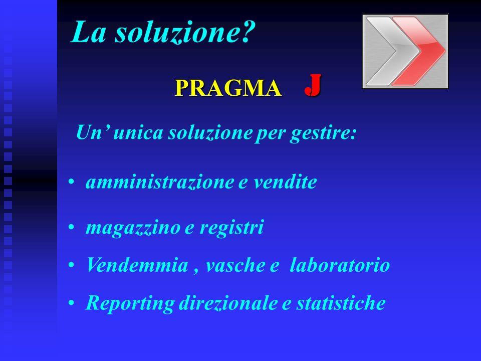 La soluzione PRAGMA J Un' unica soluzione per gestire: