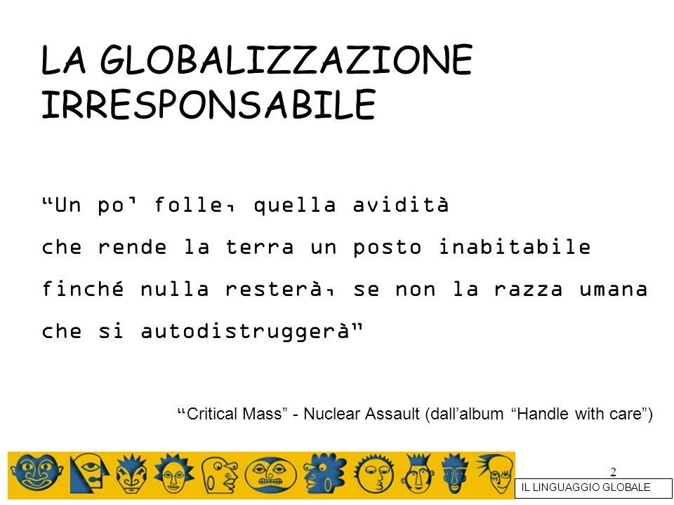 LA GLOBALIZZAZIONE IRRESPONSABILE