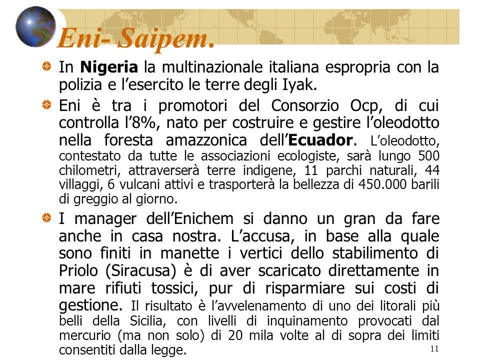 Eni- Saipem. In Nigeria la multinazionale italiana espropria con la polizia e l'esercito le terre degli Iyak.