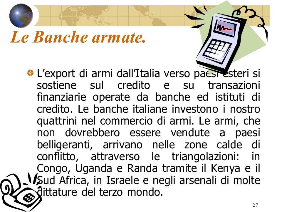 Le Banche armate.