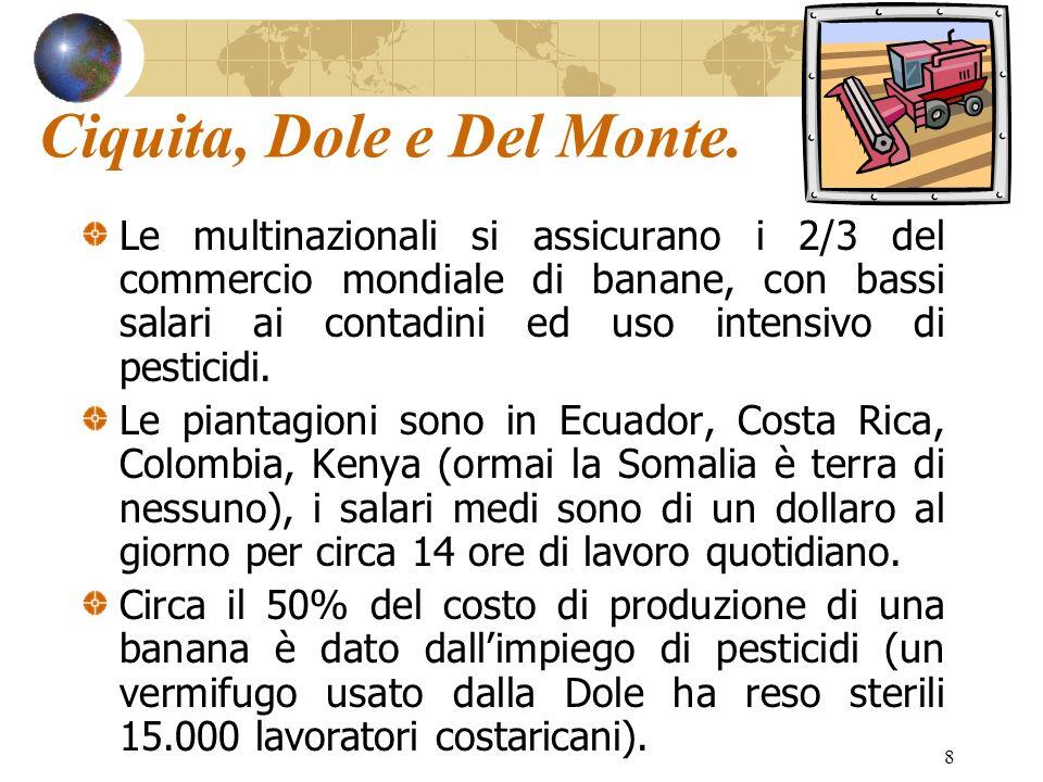 Ciquita, Dole e Del Monte.