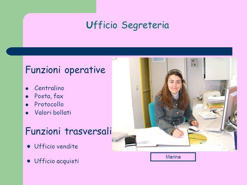 ● Ufficio vendite ● Ufficio acquisti Ufficio Segreteria