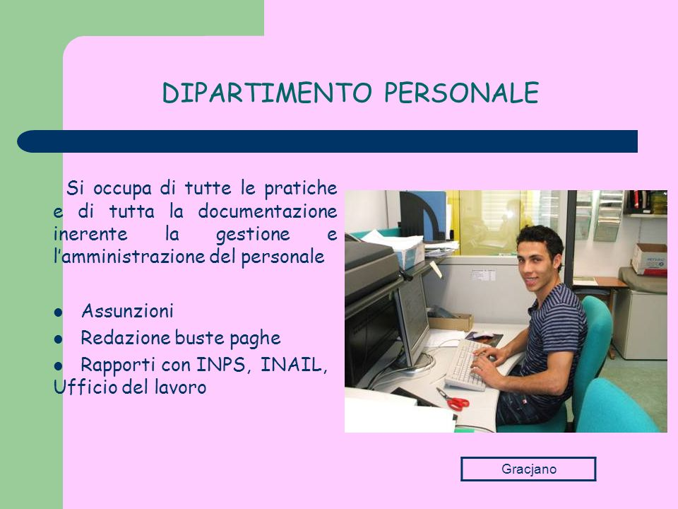 DIPARTIMENTO PERSONALE
