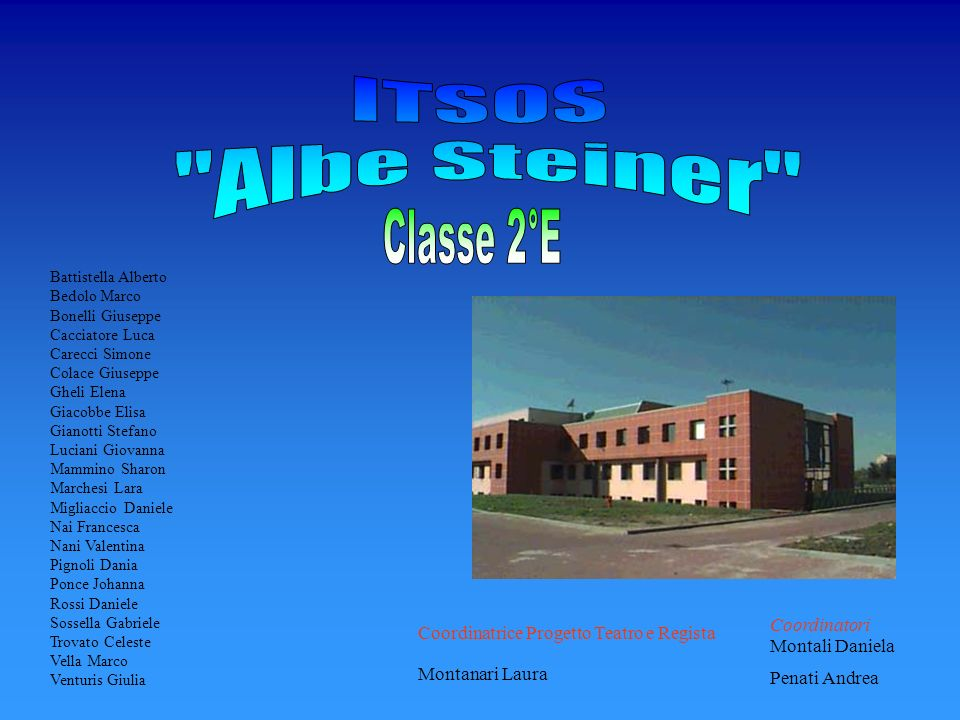 ITSOS Albe Steiner Classe 2°E Coordinatori