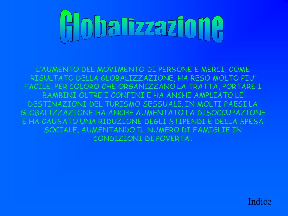 Globalizzazione Indice