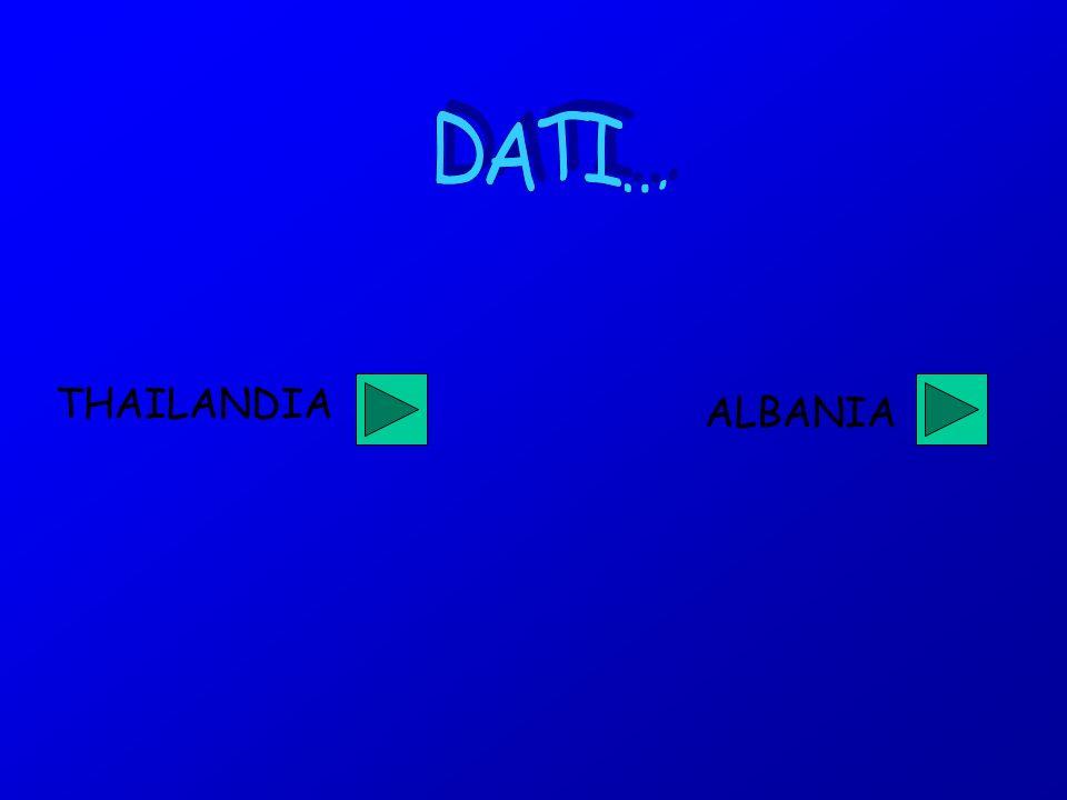 DATI… THAILANDIA ALBANIA
