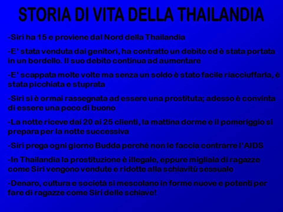 STORIA DI VITA DELLA THAILANDIA