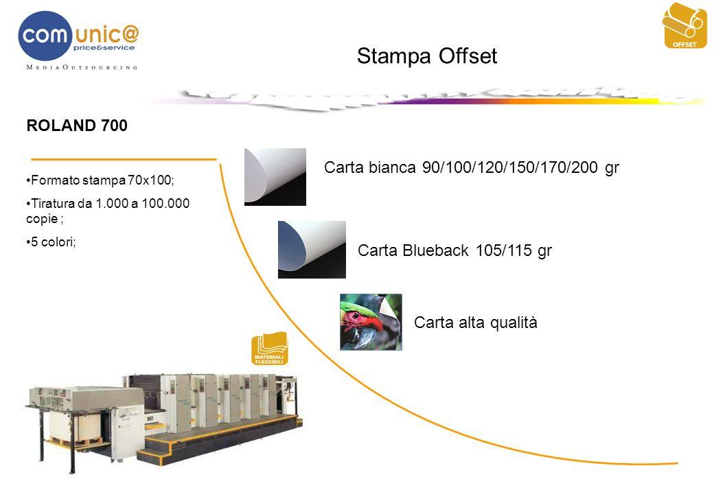 Stampa Offset ROLAND 700 Carta bianca 90/100/120/150/170/200 gr