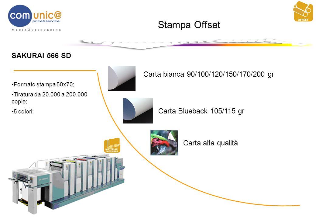 Stampa Offset SAKURAI 566 SD Carta bianca 90/100/120/150/170/200 gr