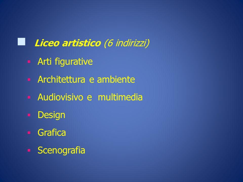 Liceo artistico (6 indirizzi)