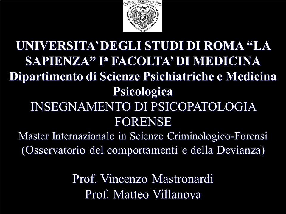 Prof. Vincenzo Mastronardi Prof. Matteo Villanova