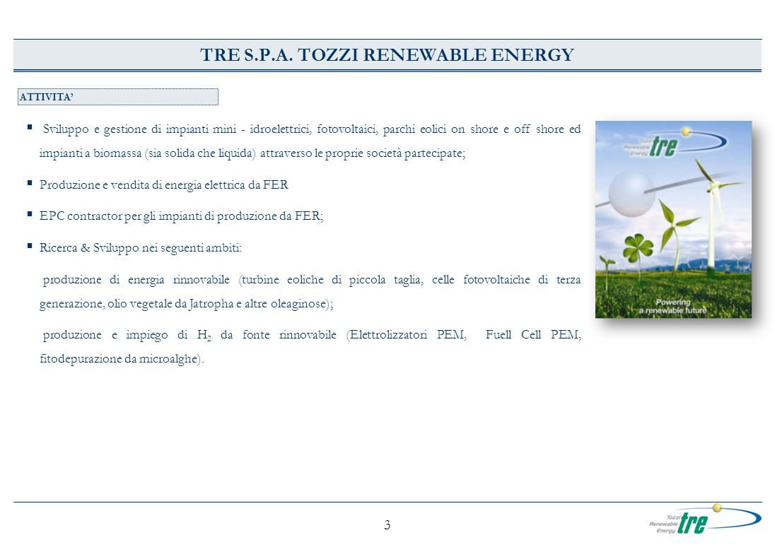 TRE S.P.A. TOZZI RENEWABLE ENERGY