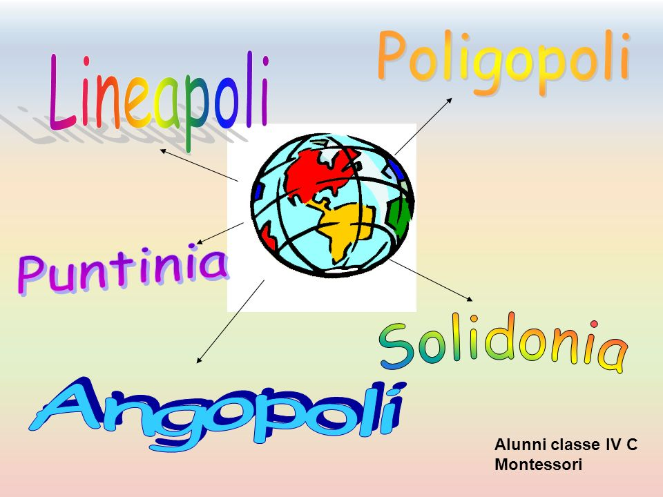 Solidonia Poligopoli Lineapoli Puntinia Angopoli Alunni classe IV C