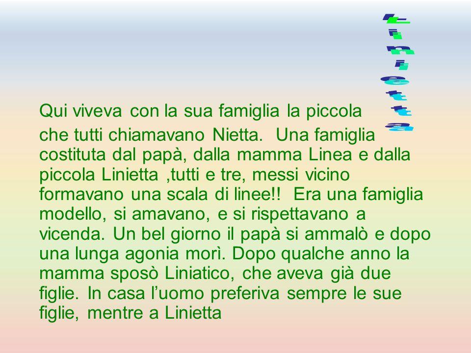 Linietta Qui viveva con la sua famiglia la piccola